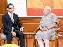 Prime Minister Narendra Modi and Fumihiko Ike