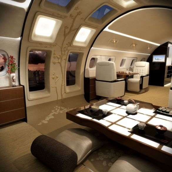 Private jet the business buzz you can get a private jet with a wraparound sunroof for just 53 million malvernweather Choice Image